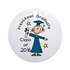 Girl Pre-K Grad 2014 Ornament (Round)