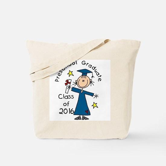Girl 2016 Preschool Graduate Tote Bag