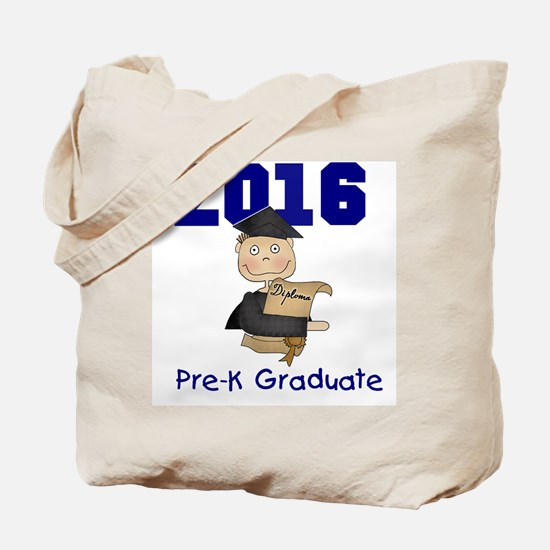 2016 Boy Pre-K Grad Tote Bag