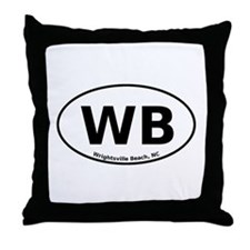 Wrightsville Beach Throw Pillow