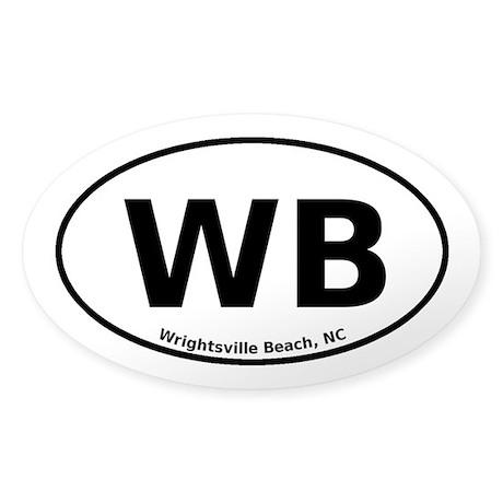 Wrightsville Beach Sticker (Oval)