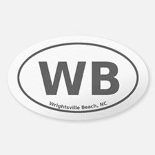 Wrightsville Beach Sticker (Oval)