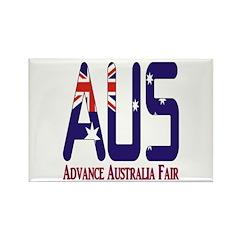 AUS Australia Rectangle Magnet (10 pack)
