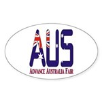 AUS Australia Oval Sticker