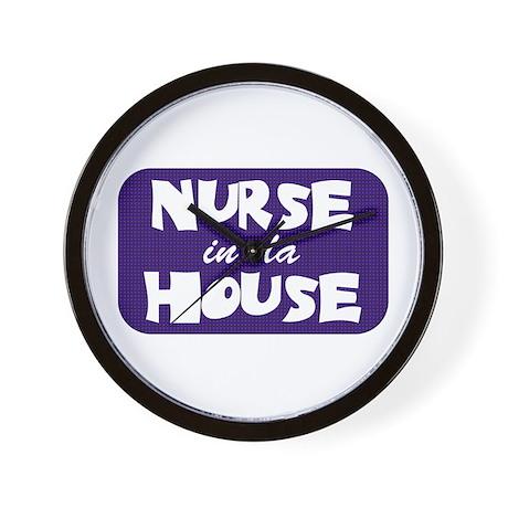 Nurse In Da House Wall Clock