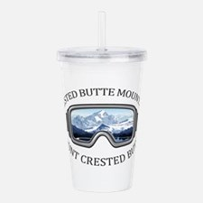 Crested Butte Mountain Acrylic Double-wall Tumbler