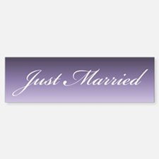 Purple Haze Just Married Bumper Bumper Bumper Sticker