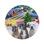 Xmas Magic / 3 Boxers Ornament (Round)