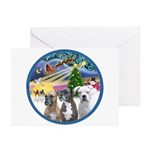 Xmas Magic / 3 Boxers Greeting Cards (Pk of 10)