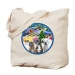 Xmas Magic / 3 Boxers Tote Bag