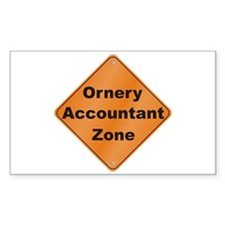 Ornery Accountant Decal