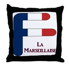 F France Throw Pillow