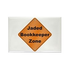 Jaded Bookkeeper Rectangle Magnet