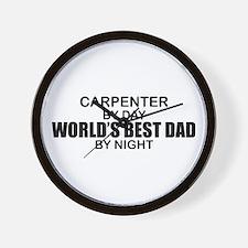 World's Best Dad - Carpente Wall Clock