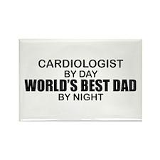 World's Best Dad - Cardiologist Rectangle Magnet
