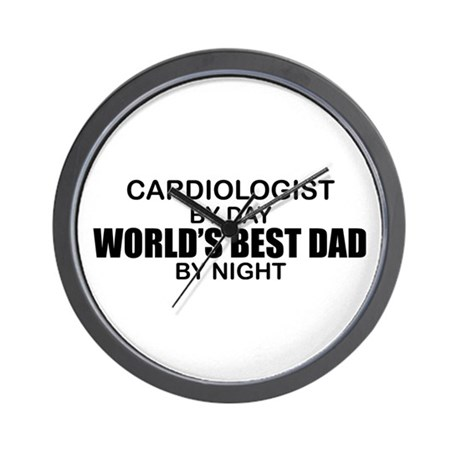 World's Best Dad - Cardiologist Wall Clock