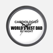 World's Best Dad - Cardiologist Wall Clock