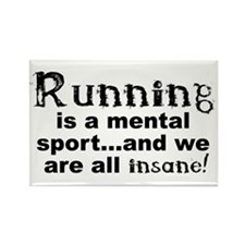 Running is a Mental Sport Rectangle Magnet (10 pac