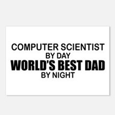 World's Best Dad - Comp Sci Postcards (Package of