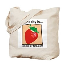 Plant City is...  Strawberrie Tote Bag