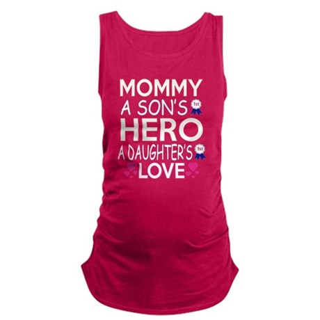 Mommy A Sons 1st Hero A Daughters First L Tank Top