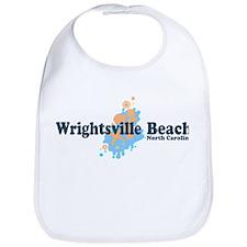 Wrightsville Beach NC - Seashells Design Bib
