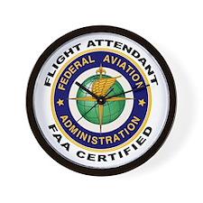 FAA Certified Flight Attendant Wall Clock