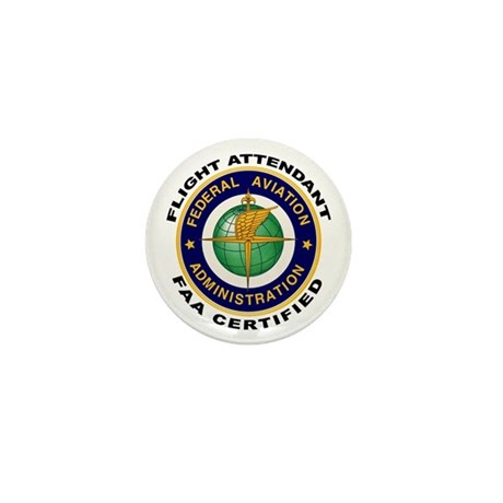 FAA Certified Flight Attendant Mini Button (10 pac