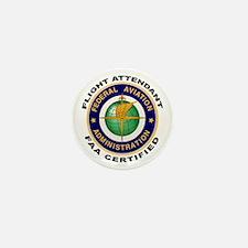 FAA Certified Flight Attendant Mini Button (10 pac