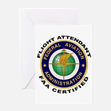 FAA Certified Flight Attendant Greeting Card