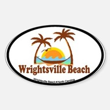 Wrightsville Beach NC - Palm Trees Design Decal