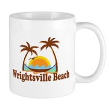 Wrightsville Beach NC - Palm Trees Design Mug