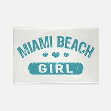 Miami Beach Girl Rectangle Magnet