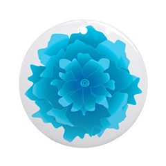 Floating Blue Flower, Balloon Weight / Ornament