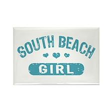 South Beach Girl Rectangle Magnet