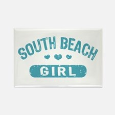South Beach Girl Rectangle Magnet