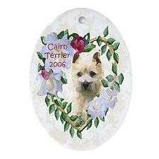 Cairn Terrier Heart Oval Ornament