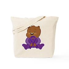 Teddy Bear Alzheimers Ribbon Tote Bag