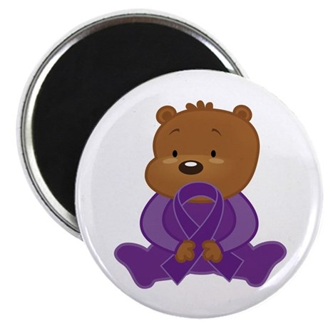 Teddy Bear Alzheimers Ribbon Magnet