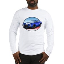 Blue 70s Camaro Long Sleeve T-Shirt