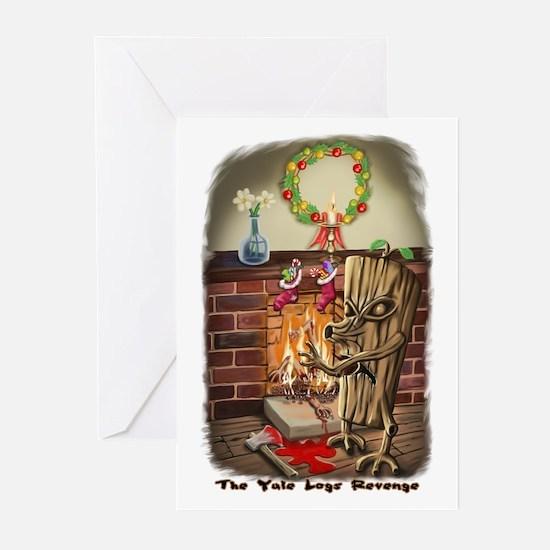 The Yule Logs Revenge Style I Greeting Cards (Pk o