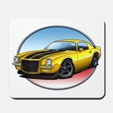 Yellow 70s Camaro Mousepad