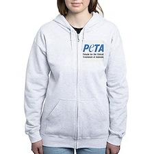 PETA Logo Zipped Hoodie