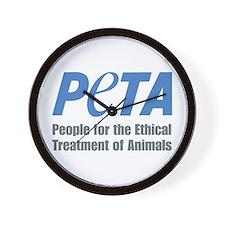 PETA Logo Wall Clock