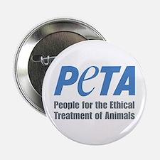 """PETA Logo 2.25"""" Button"""
