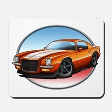 Orange 70s Camaro Mousepad