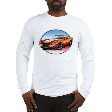 Orange 70s Camaro Long Sleeve T-Shirt