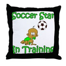 Soccer Star in Training Ethan Throw Pillow