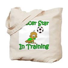 Soccer Star in Training Ethan Tote Bag