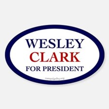 Wesley Clark for President Oval Decal